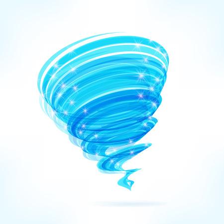 tornado wind: Blue vector tornado
