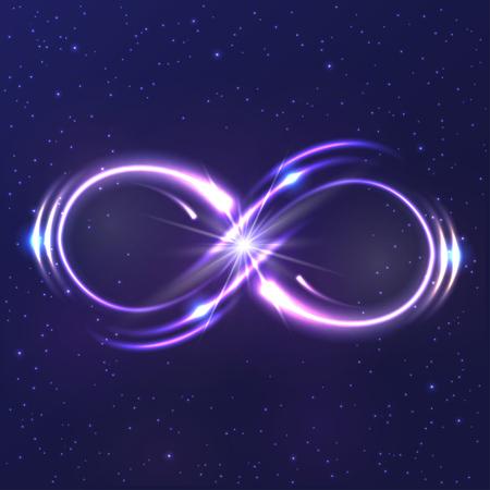 Neon light infinity symbol