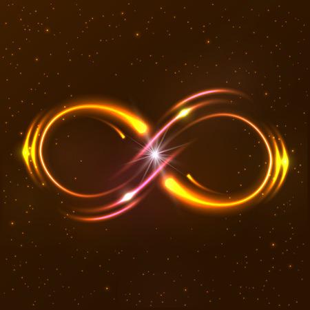 Shining infinity symbol