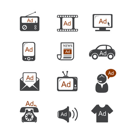 Advertisement vector icons Vector