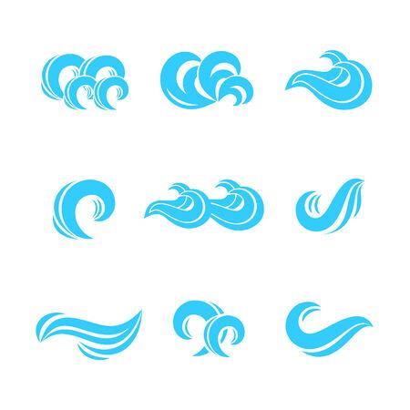 Wave icons set
