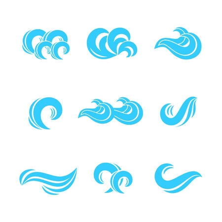 wind: Wave icons set