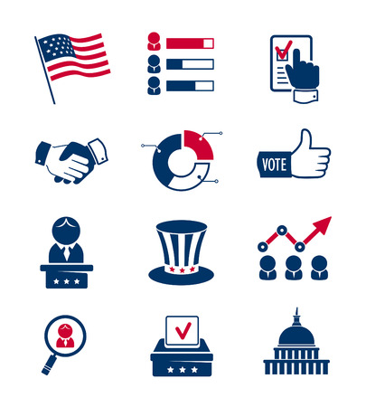 Voting and elections icons Vector