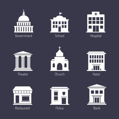Regeringsgebouw pictogrammen instellen