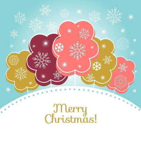 Merry christmas vector card Vector
