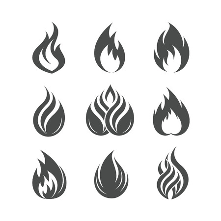 Fire icons set