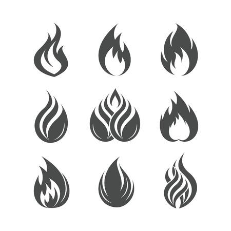 resplandor: Iconos prendió fuego