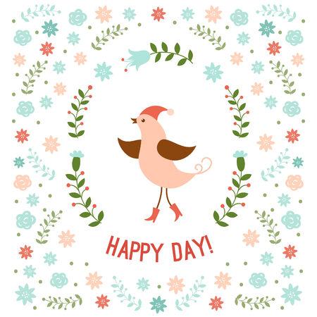 little bird: Peque�a ilustraci�n lindo p�jaro Vectores