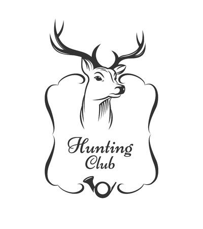 사냥 클럽 배지 일러스트
