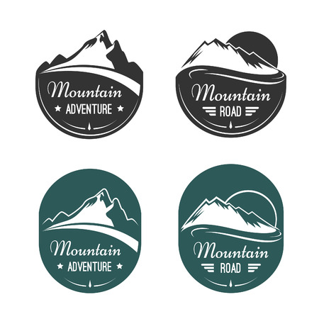 snow mountains: Mountain vector labels
