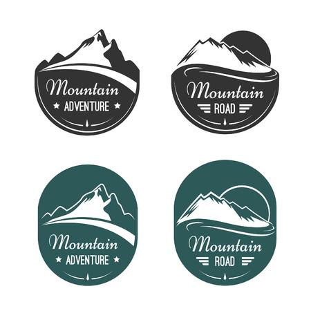 neve montagne: Vettoriale etichette di montagna Vettoriali