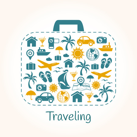 Travel holiday suitcase Vector