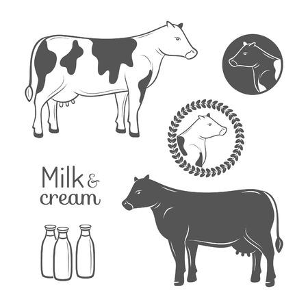 fare: Cow emblems set