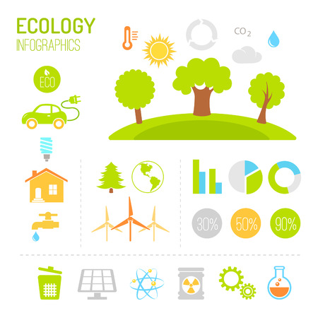conservancy: Ecology and organic infographics in flat style