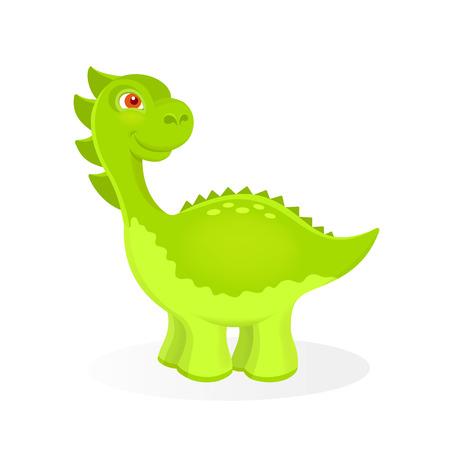 petrifying: Vector illustration of cartoon dinosaur character Illustration