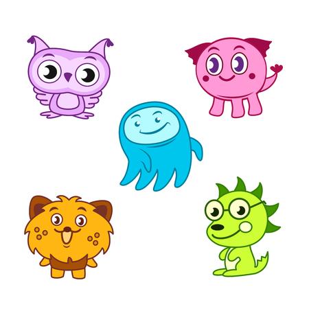 creature: Cartoon cute monsters