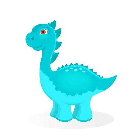 petrifying: Cartoon dinosaur character Illustration