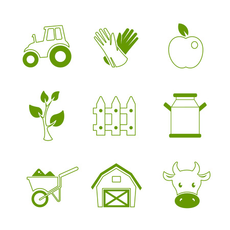 agrimotor: Farm linear icons set