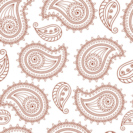 mhendi: Henna tattoo mehndi style seamless background. The pattern can be repeated or tiled without any visible seams Illustration