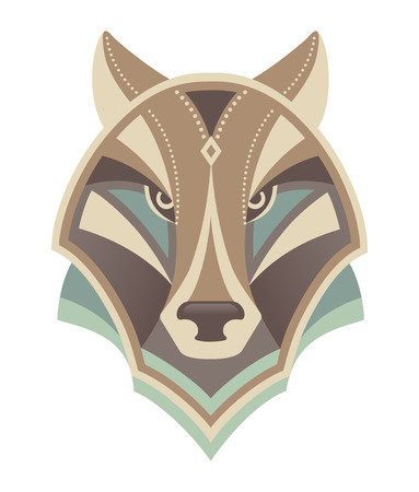 beast: Wolf head abstract vector design Illustration