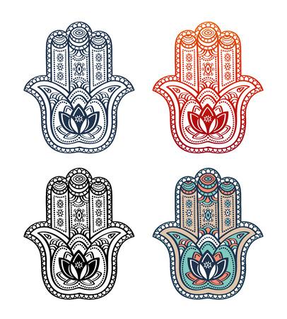 Mehndi tattoo icons. Illustration