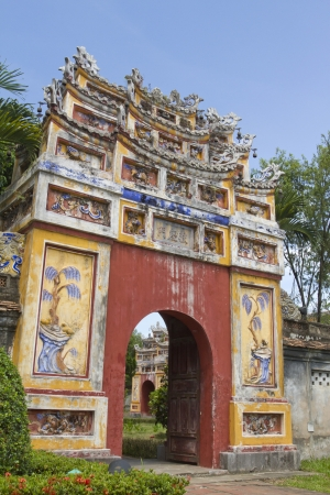 middle east fighting: Entrance of Citadel, Hue, Vietnam. Unesco World Heritage Site