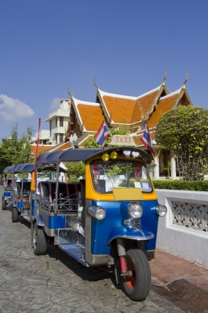 tuk tuk: Tuk-Tuk vehicle urban in Bangkok Stock Photo
