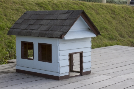 wooden dog's house photo