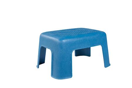 Immagini Stock - Sedia Di Plastica Blu Isolata Su Fondo Bianco Image ...
