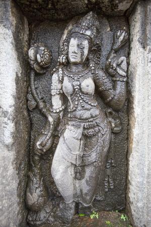 prambanan: Detail of carved relief at Prambanan, Java, Indonesia