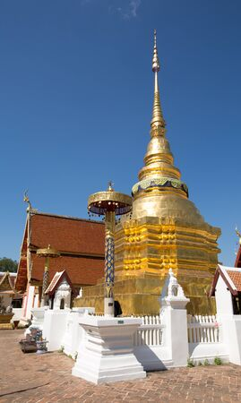 awarded: Wat PongSanuk is the ancient temple which awarded by UNESCO as Award of Merit Stock Photo