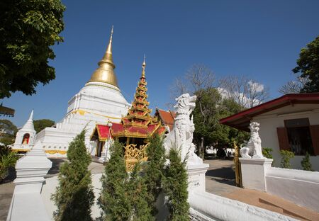 tao: Wat Phra Kaew Don Tao at Lampang, Thailand. Stock Photo