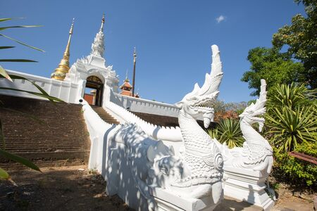 unesco: Wat PongSanuk is the ancient temple which awarded by UNESCO as Award of Merit Stock Photo