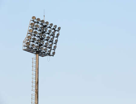 stadium lights: Stadium lights turned on Stock Photo