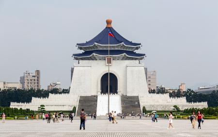 shek: TAIPEI TAIWAN-MAY 2:Chiang Kai Shek Memorial Hall on Liberty Square on May 2, 2016 at Taipei Taiwan Editorial