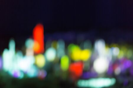 Abstract bokeh background look like cityspace, with free text space