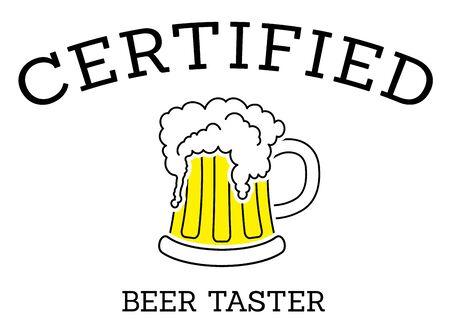 Certified beer taster