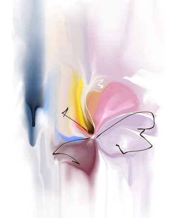 singular: abstract flower  Stock Photo