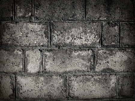 raspy: Stacked stone wall background in black and white