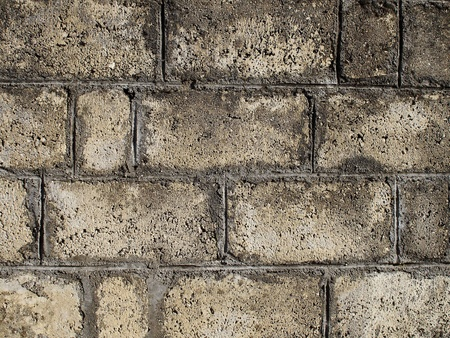 raspy: Stone brick wall background Stock Photo