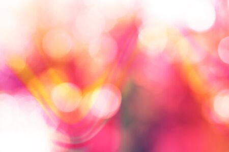 Abstract blur natural background, with bokeh coral and yellow. Design backdrop.
