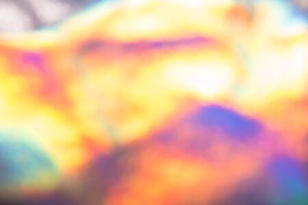 Holographic abstract colorful blurred background. Unfocused color hologram design backdrop 스톡 콘텐츠 - 130014203