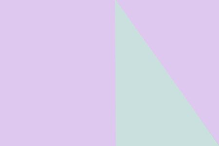 Light purple and green geometrical background. Copy space flat lay