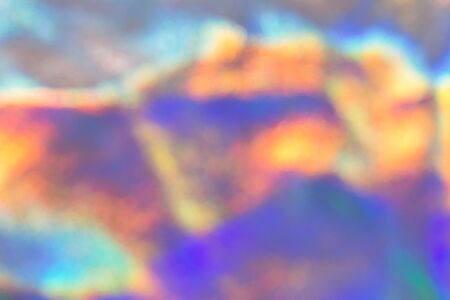 Holographic abstract colorful blurred background. Unfocused color hologram design backdrop