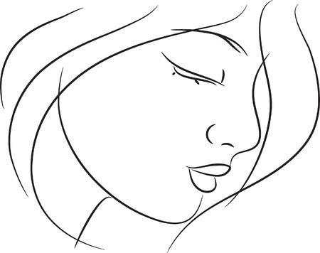 Beautiful girl sketch Illustration