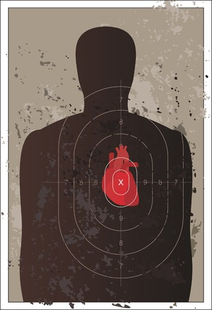 assailant: Shooting mark with human heart