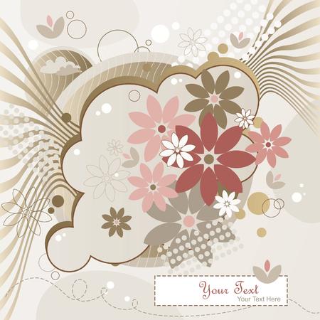 Background Moon Flowers Stock Vector - 7451873