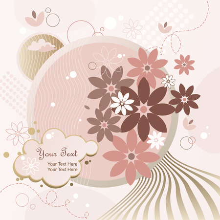 pastel colored: Background Moon Flowers Illustration
