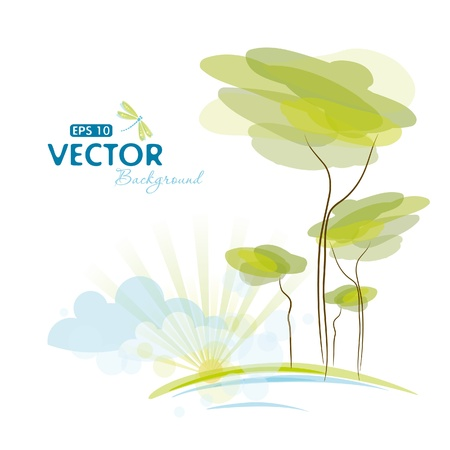Nature background, Vector
