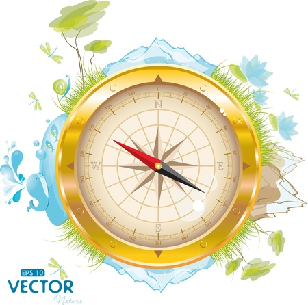 Round the world - design with compass, eps-10 Stock Vector - 9280894
